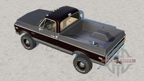 Chevrolet K30 Cheyenne Fleetside 1972 for Farming Simulator 2017