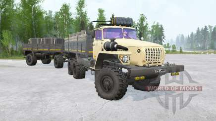 Ural-4320 6x6〡various animations for MudRunner