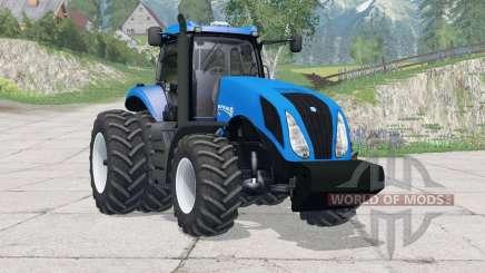 New Holland T8.270〡dual rear wheels for Farming Simulator 2015