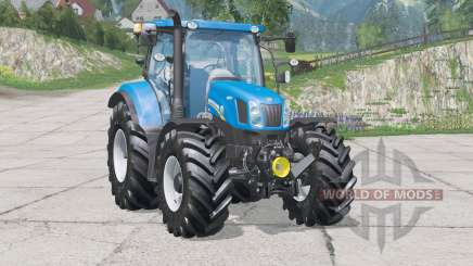 New Holland T6.160〡animated fenders for Farming Simulator 2015