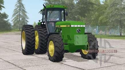 John Deere 4060 series〡selectable wheels for Farming Simulator 2017