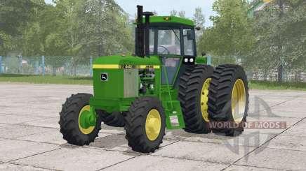 John Deere 4040 series〡selectable wheels for Farming Simulator 2017