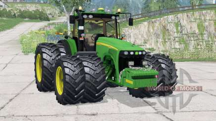 John Deere 8520〡new tires for Farming Simulator 2015